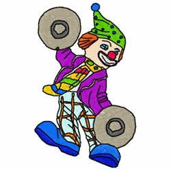 Cymbal Clown embroidery design