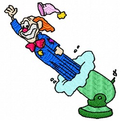 Rocket Clown embroidery design