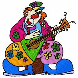 Guitar Clown embroidery design