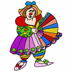 Lady Clown embroidery design