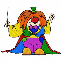 Conductor Clown embroidery design