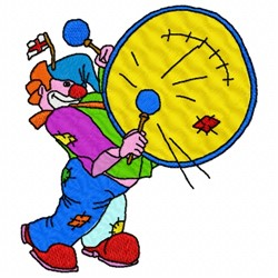 Drum Clown embroidery design