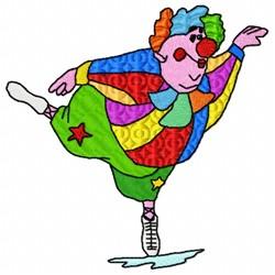 Ballet Clown embroidery design