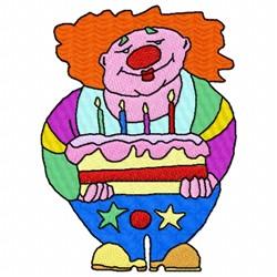 Birthday Clown embroidery design