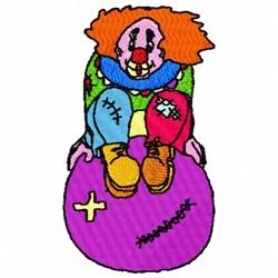 Clown Ball embroidery design