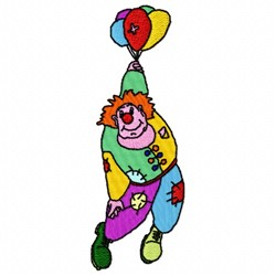 Balloons Clown embroidery design