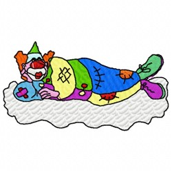 Cloud Clown embroidery design