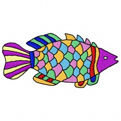Colorful Fish embroidery design
