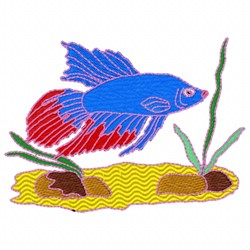 Fish Kelp embroidery design