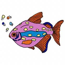 Fish Bubbles embroidery design