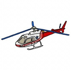 Red Helicopter embroidery design