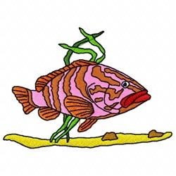 Kelp Fish embroidery design