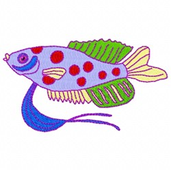 Spotted Fish embroidery design