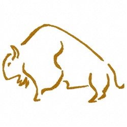 Bison Outline embroidery design