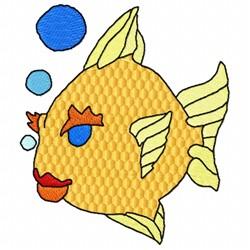 Fish Bubble embroidery design