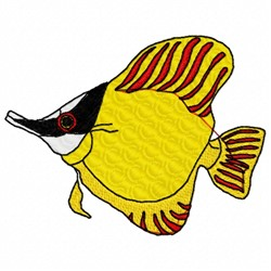 Yellow Fish embroidery design