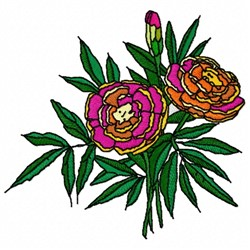 Flower Plant embroidery design