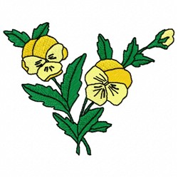 Yellow Flower embroidery design