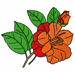 Camellia Flower embroidery design