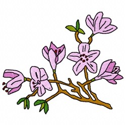 Lilac Branch embroidery design