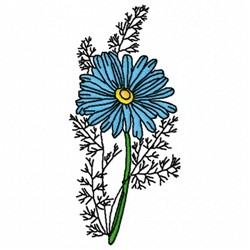 Camomile Flower embroidery design
