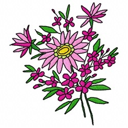 Plant Flower embroidery design