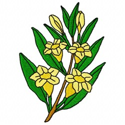 Gelsemium Flower embroidery design