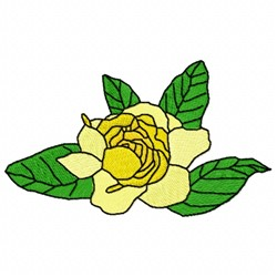 Gardenia Flower embroidery design