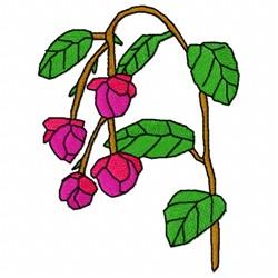 Berberidopsis Flower embroidery design