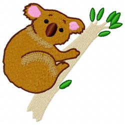 Koala Tree embroidery design