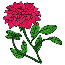 China Rose embroidery design