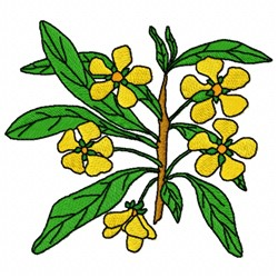 Prinsepia Flower embroidery design