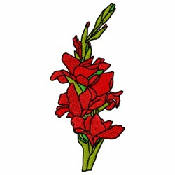 Gladiolus Flower embroidery design