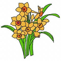 Narcissus Flower embroidery design