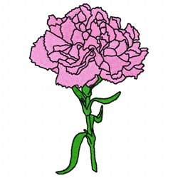 Carnation Flower embroidery design
