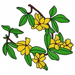 Jasminium Flower embroidery design