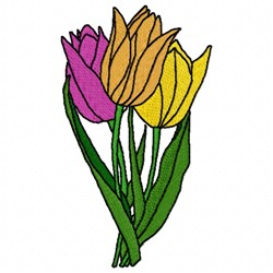 Gesners Tulip embroidery design