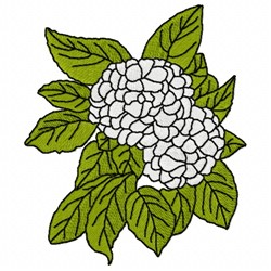 Snowball Tree embroidery design