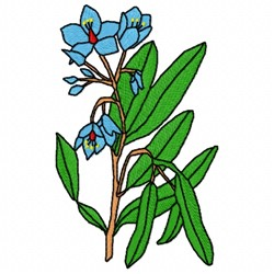 English Bluebell embroidery design