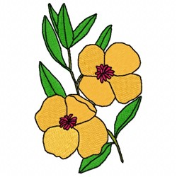 Denromecon Flower embroidery design