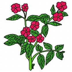 Pink Flower embroidery design
