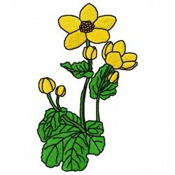 Caltha Flower embroidery design
