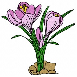 Crocus Flower embroidery design
