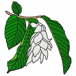Hornbeam Flower embroidery design