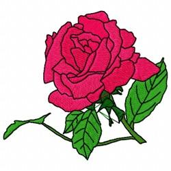 Rose Leaf embroidery design