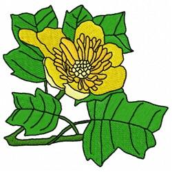 Tulip Tree embroidery design