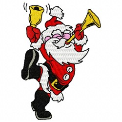Bell Santa embroidery design