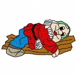 Resting Gnome embroidery design