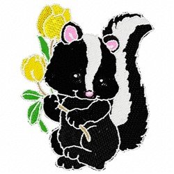 Sweet Skunk embroidery design