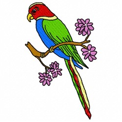 Parrot Branch embroidery design